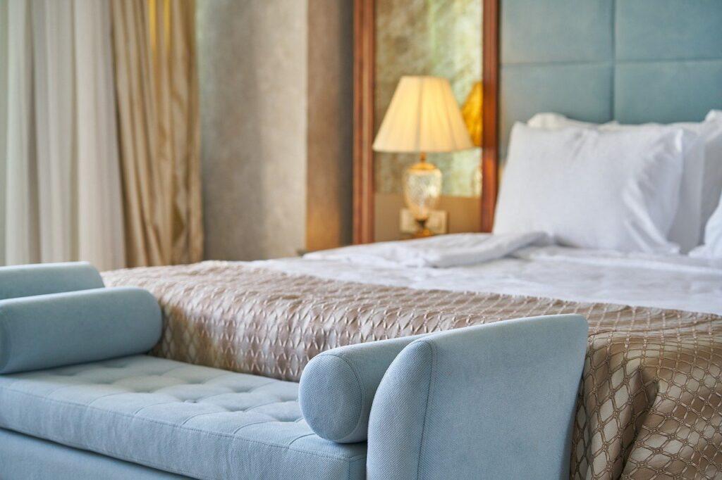 bed, bedroom, hotel room